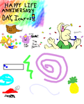 A Paintchat Birthday Card for Icarus by Pink-Painter