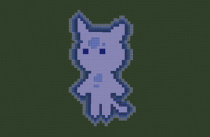 EBF4 (Holy?) Cat God in Minecraft by Some-Genius