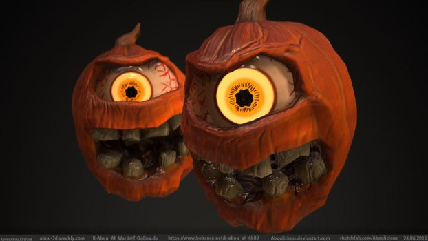 Pumpkin Monster (Color) by Aboulicious