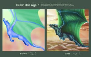 Draw this Again Contest - The Joy of Flight by Golphee