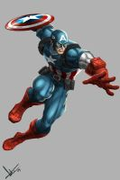 Captain America color collab. by victter-le-fou