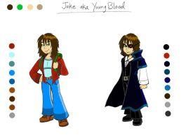 Jake aka YoungBlood - Character Sheet by AuroraArt