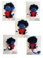 X-Men Nightcrawler Crochet Doll by arjeloops by Arjeloops