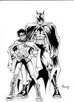 Batman and Robin by Aaron-Frankenfield