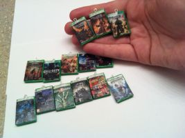 Xbox 360 Game Case Keychain by KatGore