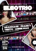 Electric A5 Club Dance Flyer by quickandeasy1