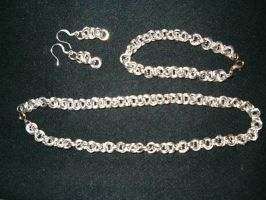 chainmail jewelry set by Ahlana