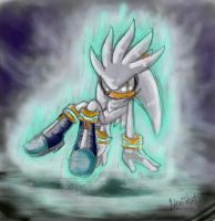 Silver the hedgehog by NENIKAT