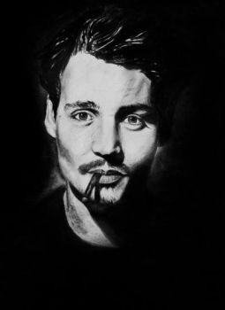 Johnny Depp by me by Deliszja
