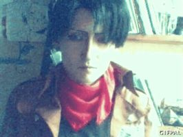 Smiling - Rivaille cosplay GIF by Jiosan