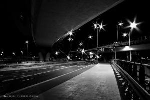 City lights at night by luxuss