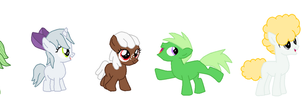 Mane 6 Pets as Younger Ponies by FreshlyBaked2014