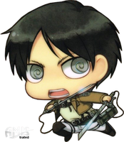 SNK - Eren Jaeger- Chibi by Amistrated