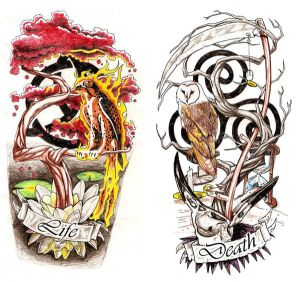 Free Tattoo Designs Life Death