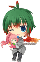 Chibi - Jai and Mini Maria by Rinselli