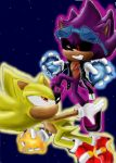Super scourge VS super Sonic by 4sonicfan