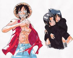 Luffy + Itasasu by Nuskineta