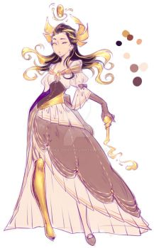 The golden Witch - Design Sketch by rika-dono