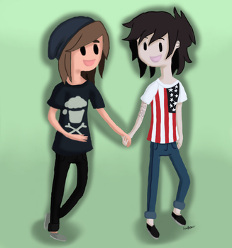 Kellin Quinn and Vic Fuentes (Kellic) by themtrencher98