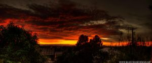 Then the sky burst into flames by jimmyA