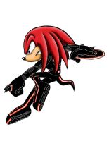 Knuckles Tron suit by Xaolin26