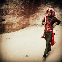 Jordanian Royal guard by lostknightkg