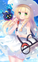 Lillie and Cosmog - Pokemon Sun/Moon by felichanxx
