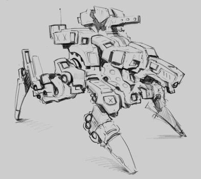 random exercise  #005777 mech sketch 2 by p00se2
