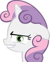 Sweetie Belle stares into your soul by Toastdeib
