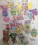 Some Touhou Project girls drawings by JaphethStuff