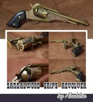 Sandalwood grips revolver by AlladdinSE