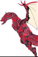 Archaic Dragon Colored by Shefelldownthestairs
