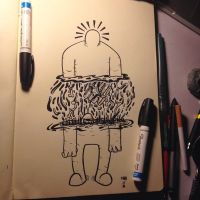 Inktober #8 Ode to Keith Haring by MarcosMachina
