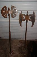 two battle Axes by BROKENHILL