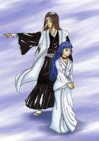 Commission: Hyuuga as Kuchiki by MewIly