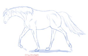 a quick sketch xD by HorseSpark