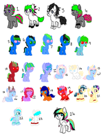 Leftover Pony Adoptables - CHEAP - .:OPEN:. by TinyWolfy