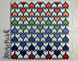 Wall of Hearts by PerlerPixie