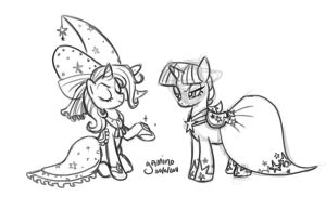 Trixie + Twilight at the Gala by Yamino