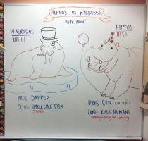 Hippos vs. Walruses: Vote Now! by cephalo786