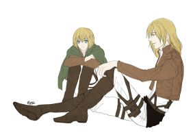 [doodles] Armin and Armin TYL by rainbuni