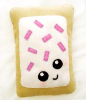 Strawberry Pop Tart Cushion by LittleMissDelicious