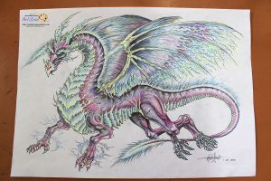 Thunder Dragon- real color by artstain