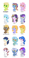 Derpy/Ditzy Batch #1 (Shipping Adopts) by StarryOak