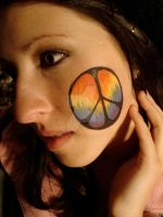 Tie-dye Peace Sign by CelticBelle
