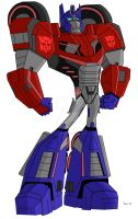 Animated Optimus Prime-War for Cybertron by TylerMirage