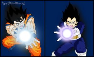 Goku vs Vegeta by MissMinority