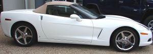 White Corvette Convertible 1 by FantasyStock