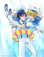 Free! Sailors by llllucid