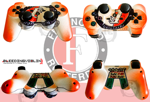 Custom Feyenoord PS3 Joypad by ricepuppet